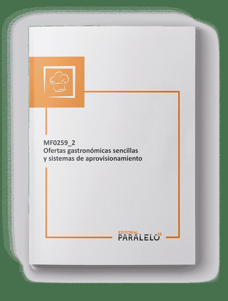 Portada del libro MF0259_2 Ofertas gastronómicas sencillas y sistemas de aprovisionamiento