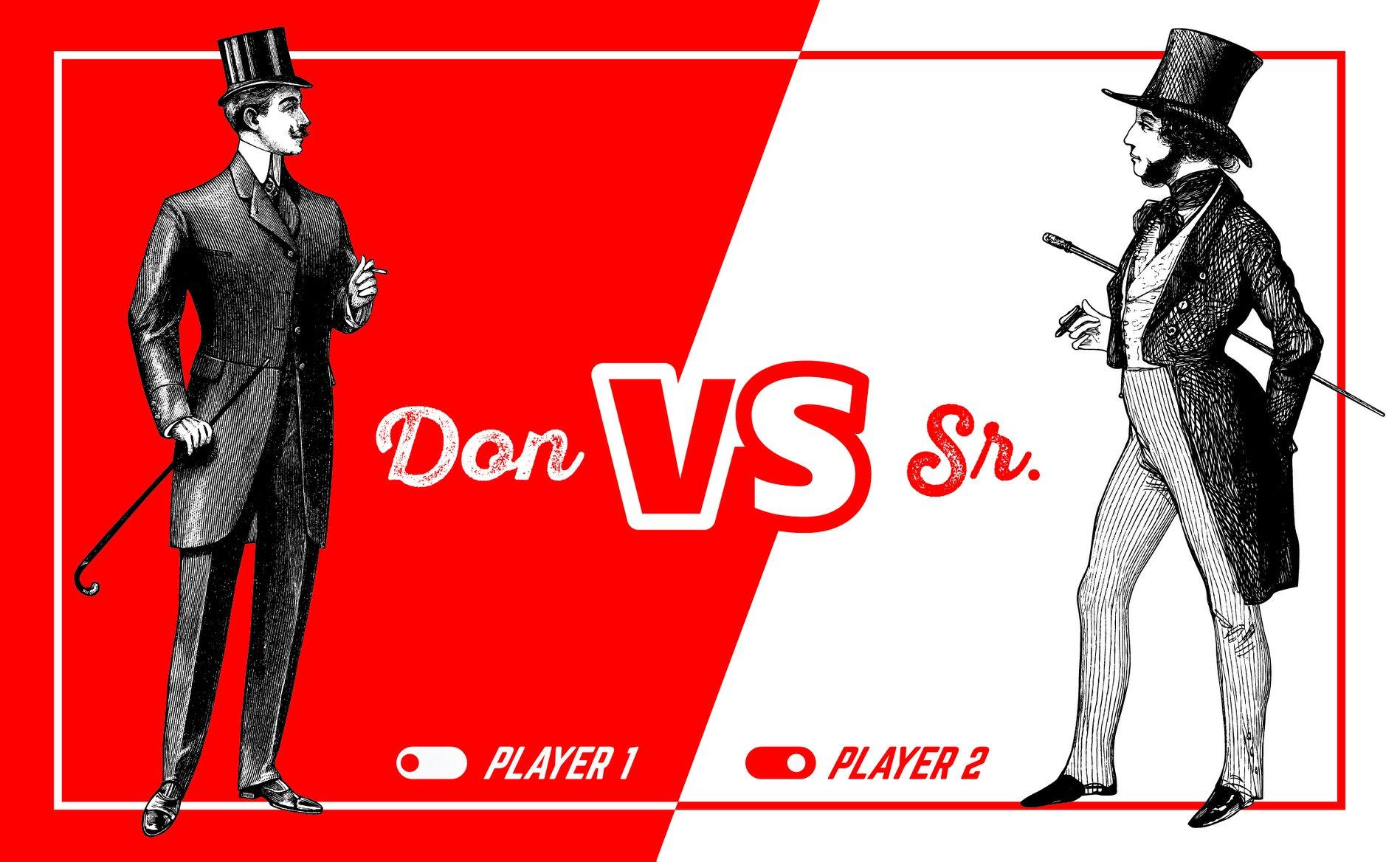 Imagen de la noticia Don vs. Sr.